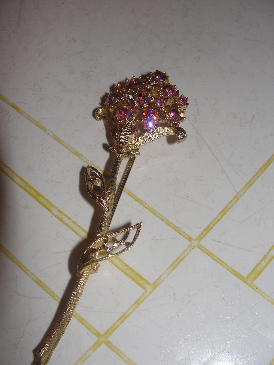Pink Posy Pin/Brooch  - Free Shipping