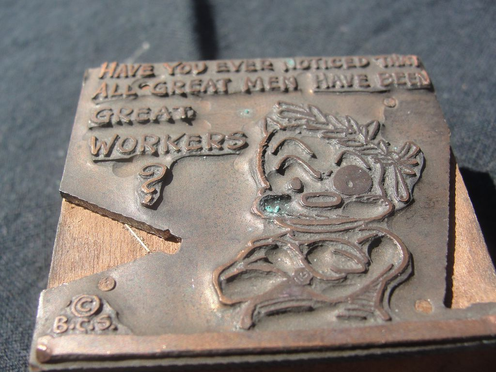 Copper Printing Block #16 Buster the Great worker - Free shipping