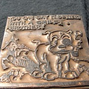 Copper printing Block #20 Buster Smiles - Free shipping