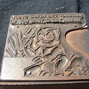 Copper Printing Block #25 Buster Gets Ahead - Free shipping