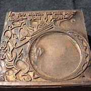 Copper Printing Block #26 Buster Bangs the Drum - Free shipping