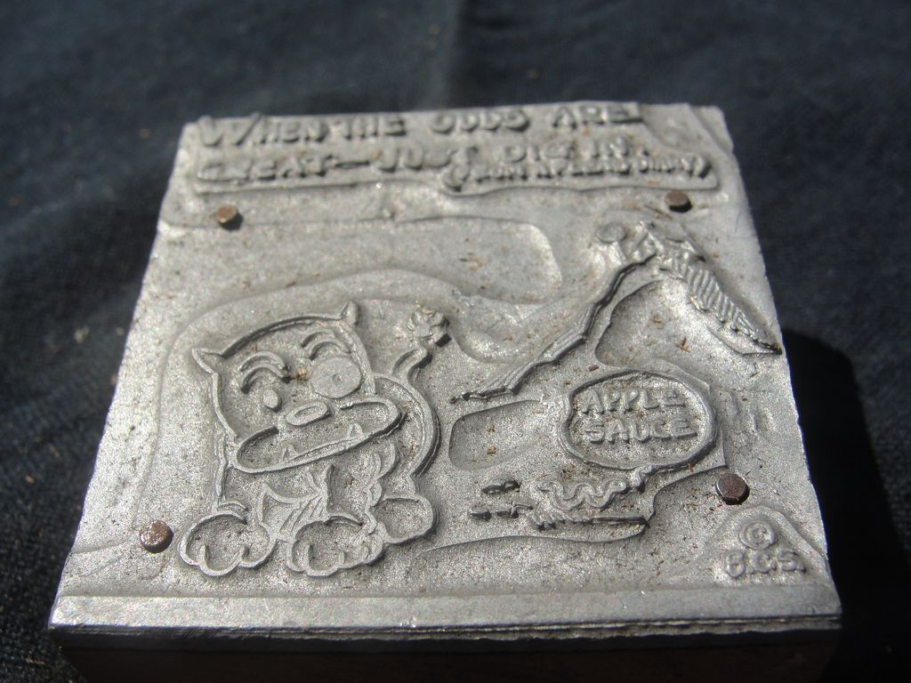 Printing Block #41 - Buster and the Odds - Free shipping