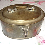 Oval Brass Hinged Box - b23