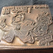 Copper Printing Block #56 Buster's going - Free shipping