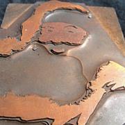 Copper Printing Block #72 Santa - Free shipping