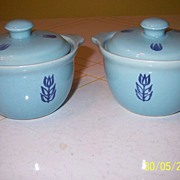 "Cronin China ""Tulip"" Individual Bean Pots w/lid"