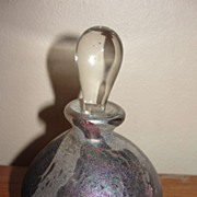 Mysterious Iridized Perfume Bottle - b22