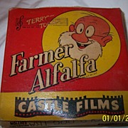 Castle Film 16MM #424 Farmer Alfalfa Old Dog Tray