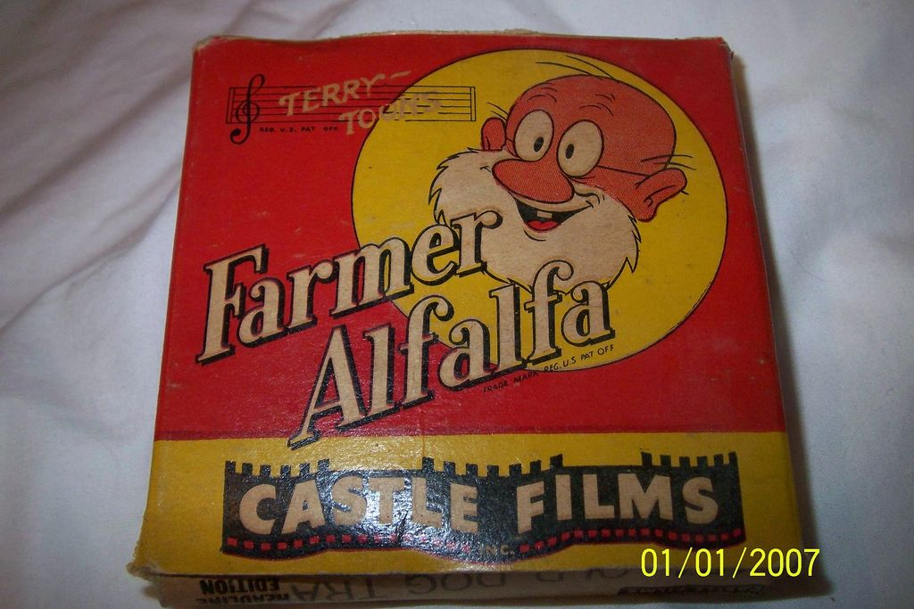 Castle Film 16MM #424 Farmer Alfalfa Old Dog Tray