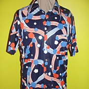 Patriotic Polyester 70's Shirt