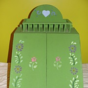 Hand Stenciled green Table Top Desk