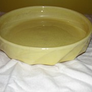 McCoy Yellow Shallow Console Bowl - b21