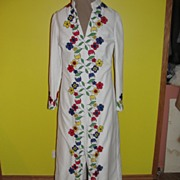 White Wedding Flower Power Long Tunic Pant Suit
