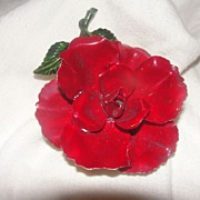 Red Rose for a Lucky lady Pin - Free Shipping