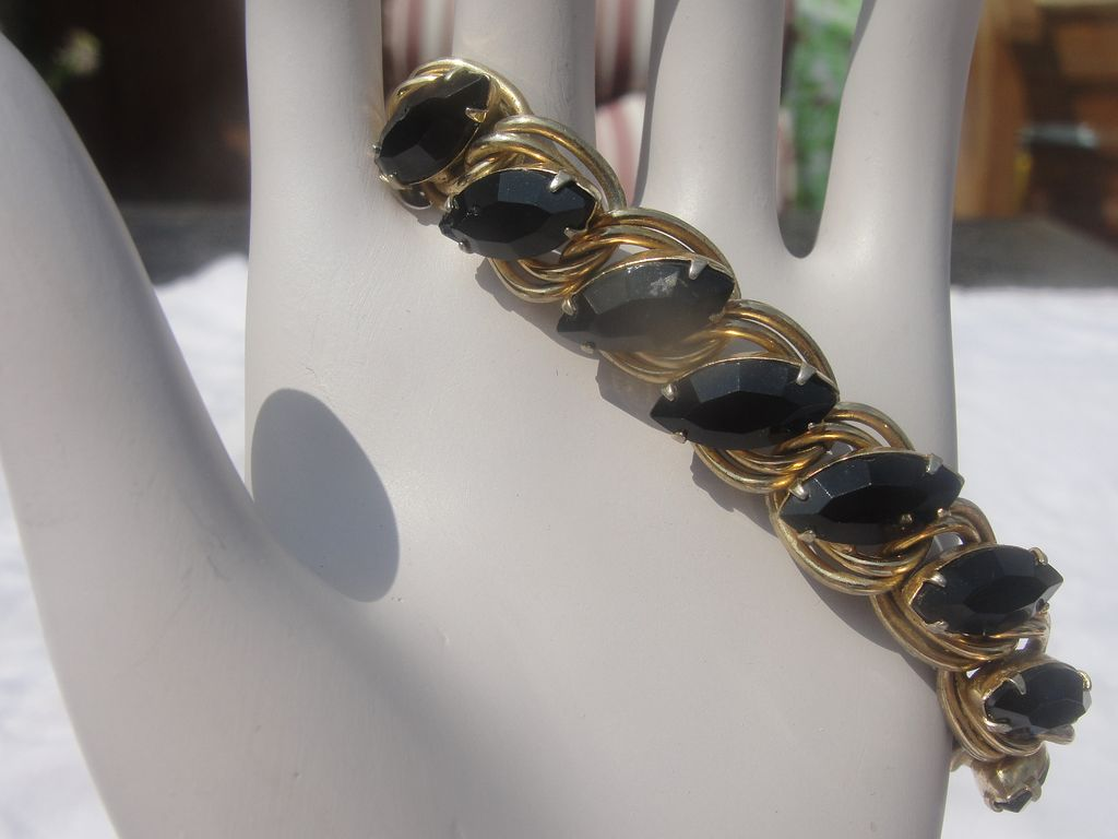 Not So Basic Black Stone Bracelet - Free Shipping