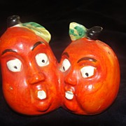 Orange Mystery Fruit All-in-one Salt and Pepper Shakers - b23