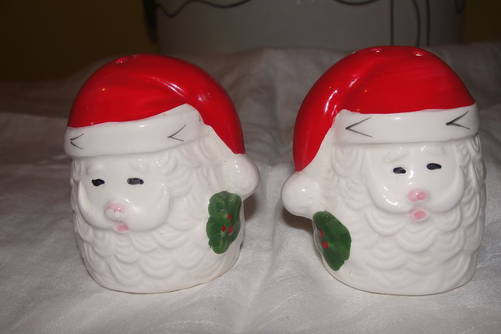 Santa Head Salt and Pepper Shakers