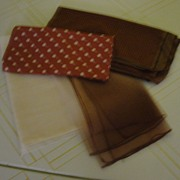 Brown Dots, Silk Houndstooth and Chiffon Scarfs.  - Free shipping