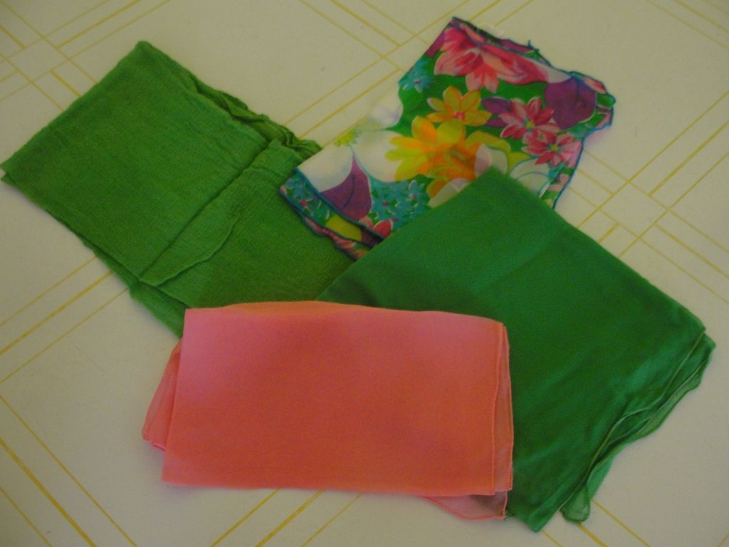 Pink and Green Scarfs - Free shipping