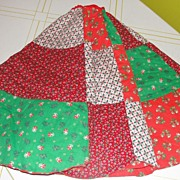 Patchwork Quilt Christmas Tree Skirt