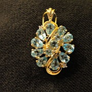 Hungry for Gold Apatite 10k Yellow Gold Pendant - Free shipping