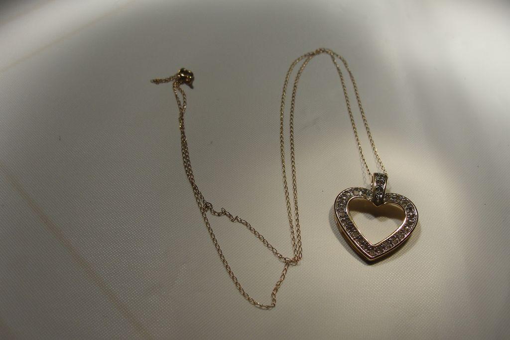 Don't Go Breaking My Heart Diamond 10K Pendant - Free Shipping