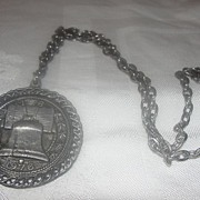 Bicentennial Liberty Bell medallion Necklace - Free shipping