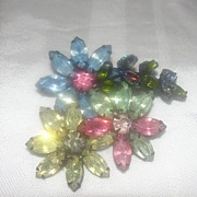 Marquis and Round rhinestone Japanned Brooch - Free shipping