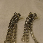 Extra Flashy, Extra Long Dangle Screw-back Earrings - Free shipping