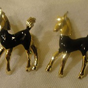Black Enamel Horse Scatter Pins - Free Shipping
