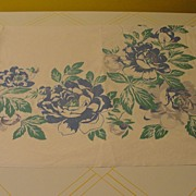 Big Blue Flowers Tablecloth