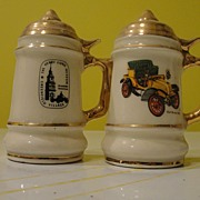 Henry Ford Museum Souvenir Stein Salt and Pepper Shakers - b32