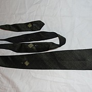 Textured Black Skinny Tie - Free shipping