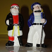 Peg-leg and Sailor Salt and Pepper shakers - b36