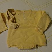 Precious Yellow Baby Romper