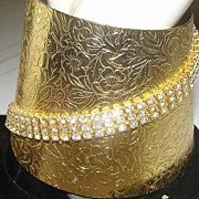 Wonder-ful Woman Cuff with Rhinestones - Free Shipping