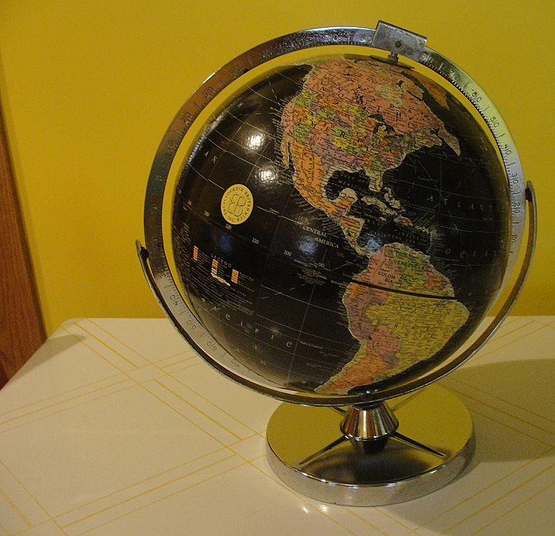 Replogle Encyclopedia Britannica  Promotional 1961 Globe