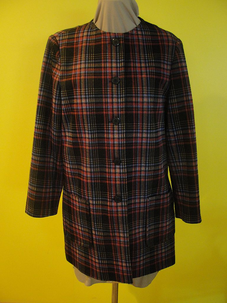 Colorful Plaid ''Henry Lee'' Blazer/jacket