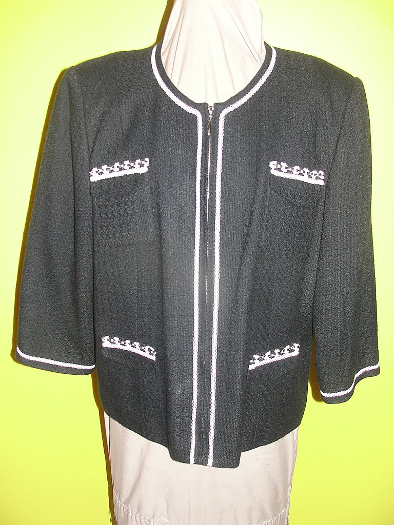 Boucle' Black and White ''Spenser Jeremy''  Jacket  size 16