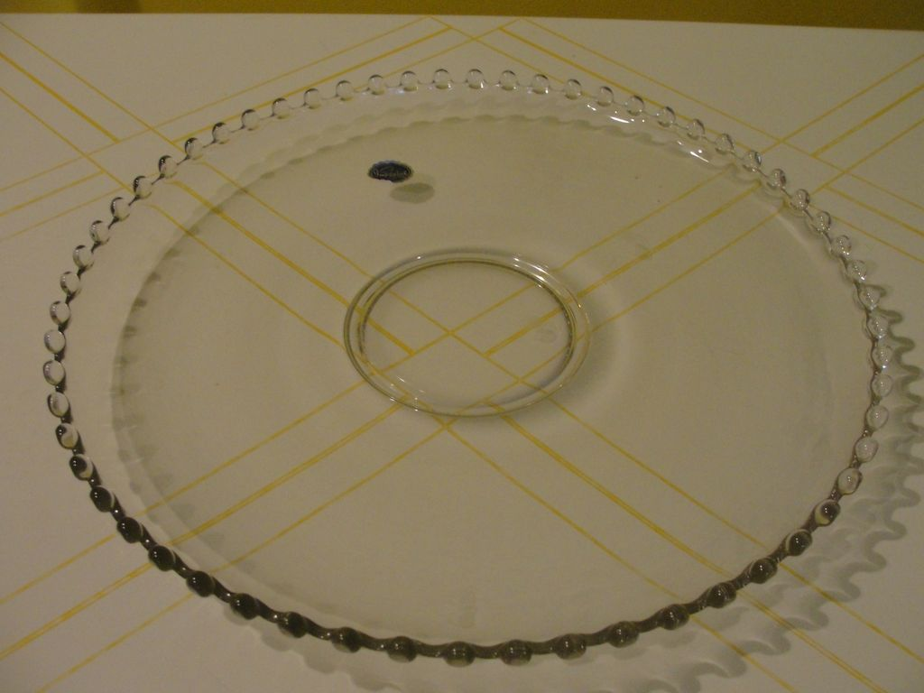Imperial Glass Candlewick Cupped Torte Plate - b35