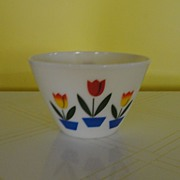 Largest Fire-King Tulip Mixing Bowl - Red Tag Sale Item