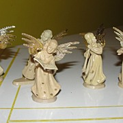 5 Piece Angel Orchestra and choir Christmas Decorations