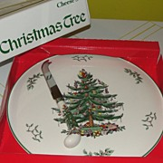 Spode ''Christmas tree'' Cheese Set - b33
