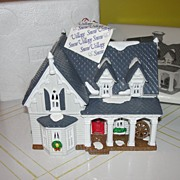 Dept 56 Snow Village American Architecture Series Gothic farmhouse #5404-6
