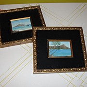A Trip to the Tropics Oils in Gold Frames - b34