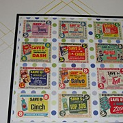 Save! Save! Save! Retro Coupon Collage