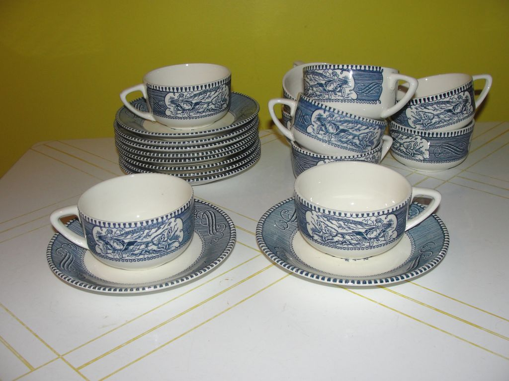 Royal China Currier and Ives Cup and Saucer.