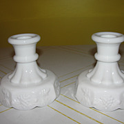 Westmoreland Paneled grape Single Lite Candleholders - b42
