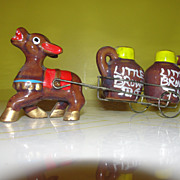 Donkey Pulling Little Brown Jugs Salt and Pepper Shakers - b34