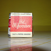 Old Milwaukee Beer Can Salt and Pepper Shakers - b34